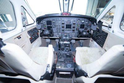 King Air B200 panel