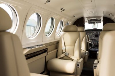 King Air B200 interior